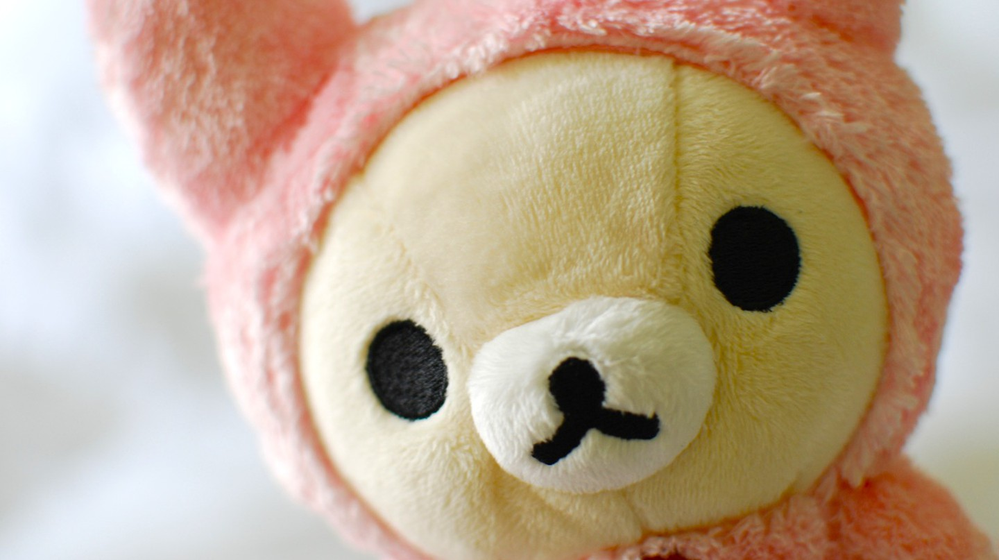 Rilakkuma wearing a pink bunny outfit | © Janine/Flickr