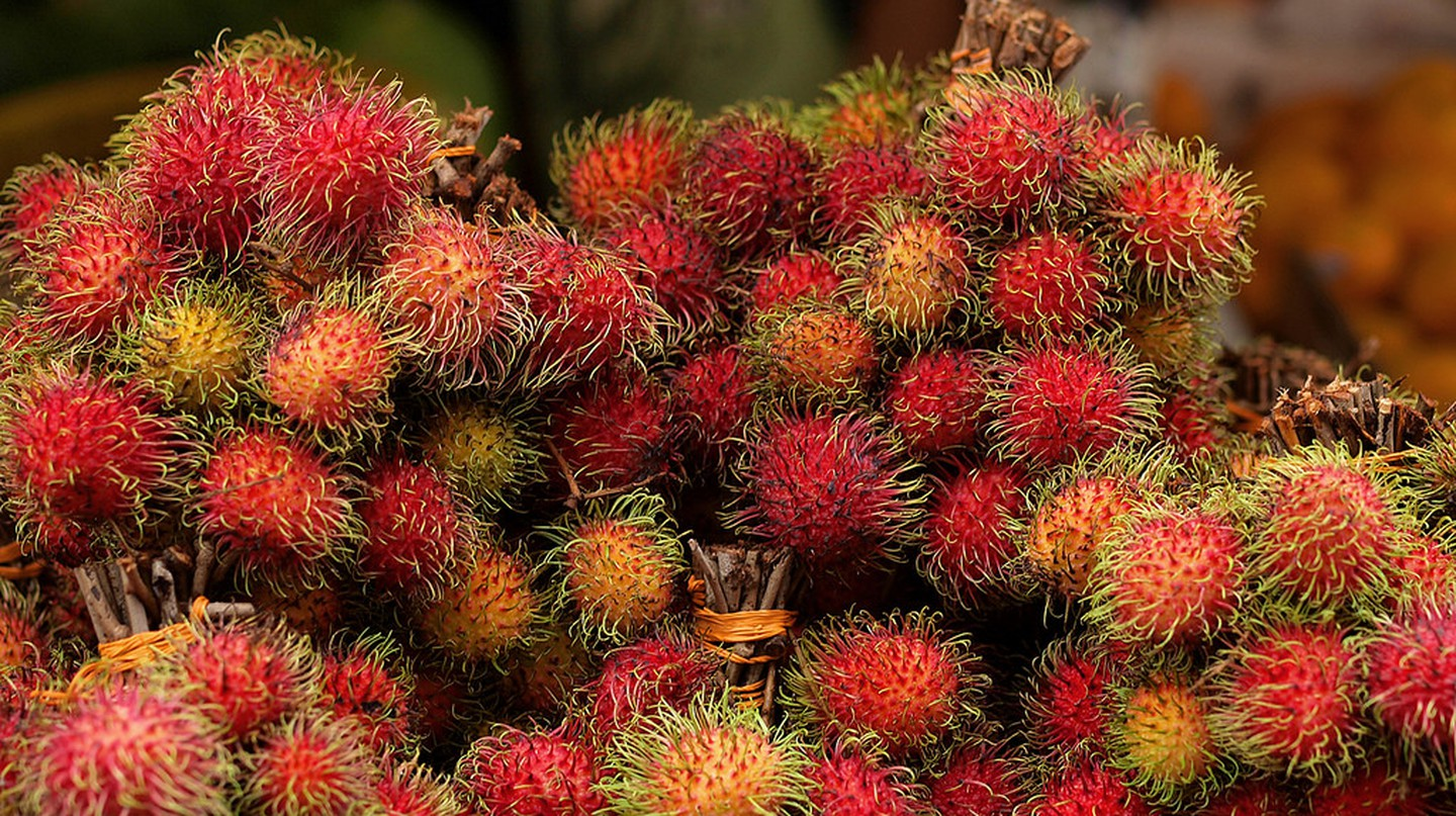 "<a href=""https://www.flickr.com/photos/hozinja/4765743615/"" target=""_blank"" rel=""noopener noreferrer"">Rambutans for sale by the bunch  at Chow Kit Market 