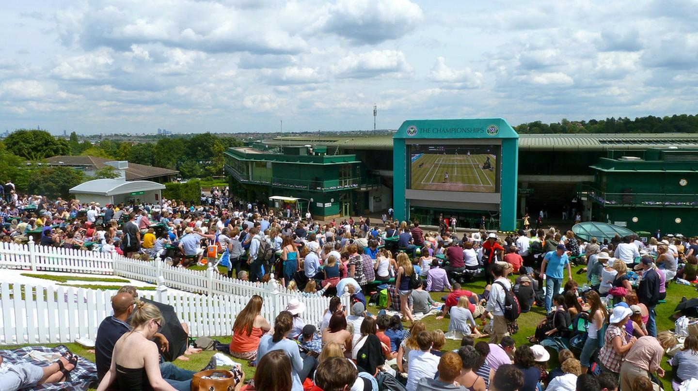 Henman Hill/Murray Mount at Wimbledon