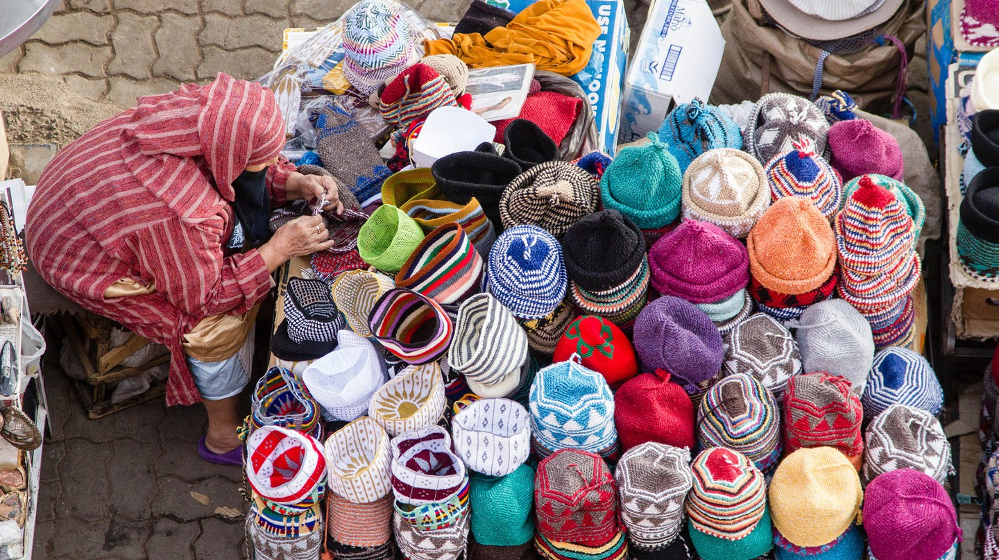 Colourful hats for sale in Marrakech | © EyeofJ / Flickr