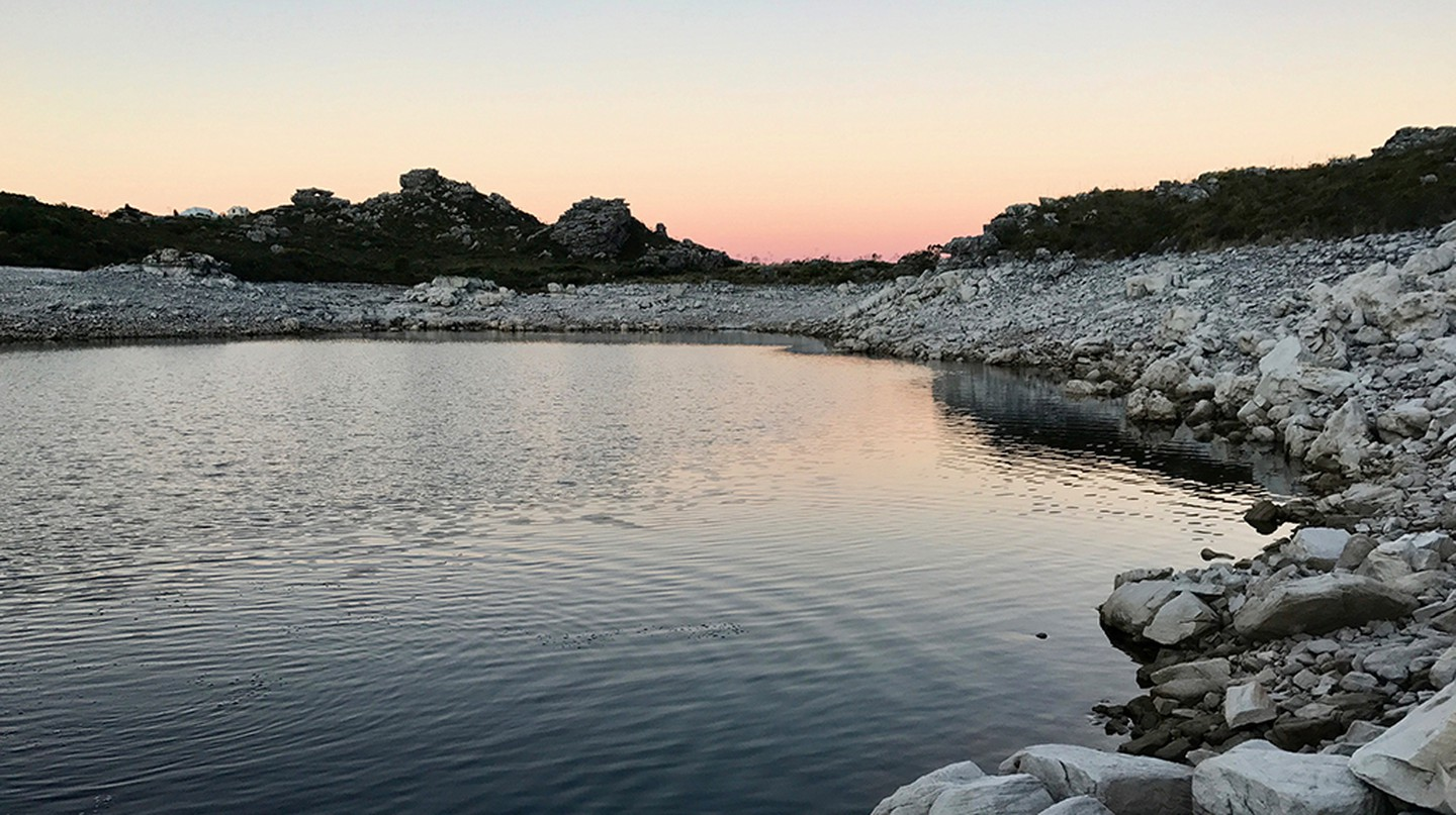 De Villiers Dam on Table Mountain at 40% full | © Andrew Thompson