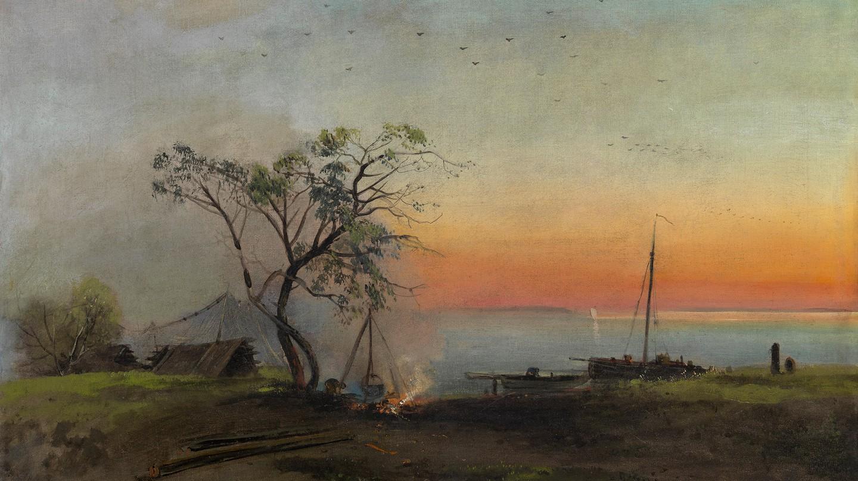 'Fishermen on the Volga' by Aleksei Kondratevich Savrasov (1872) | ©WikiCommons