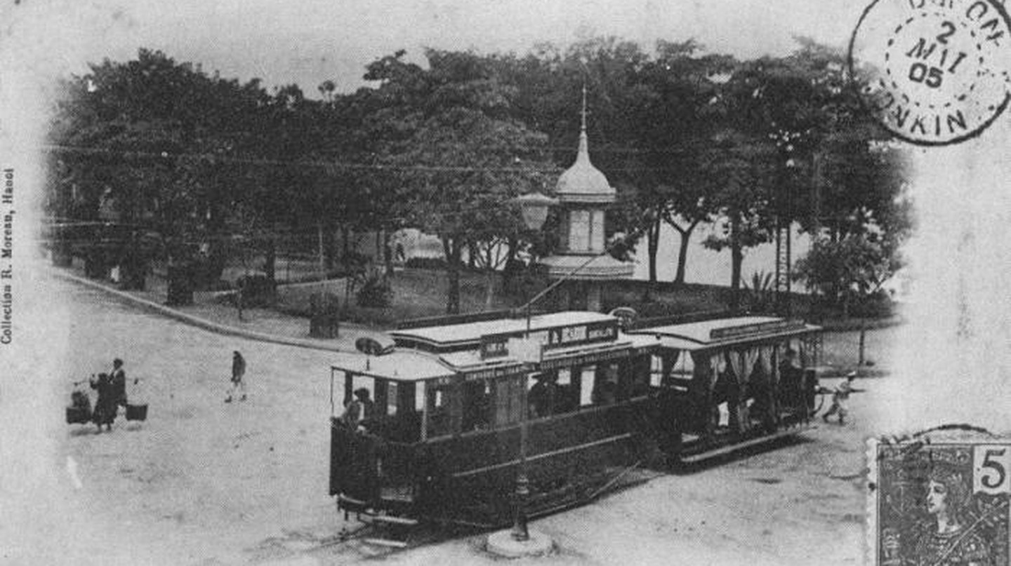 Hanoi tramway in 1901 | © Wiki Commons