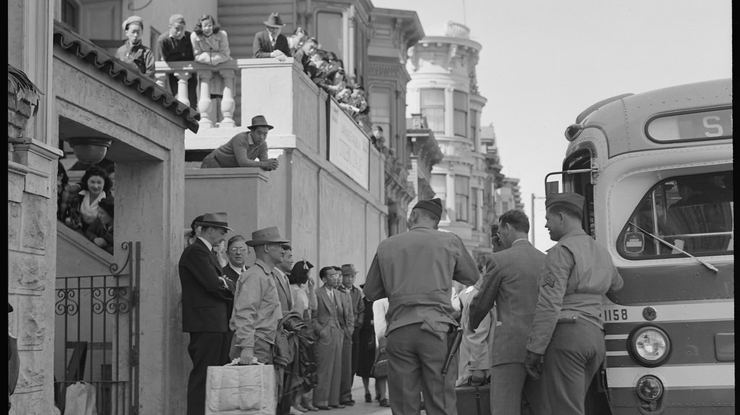 "<a href=""https://www.flickr.com/photos/anchoreditions/31415654360/"" target=""_blank"" rel=""noopener noreferrer"">Evacuation of Japanese from Japantown 