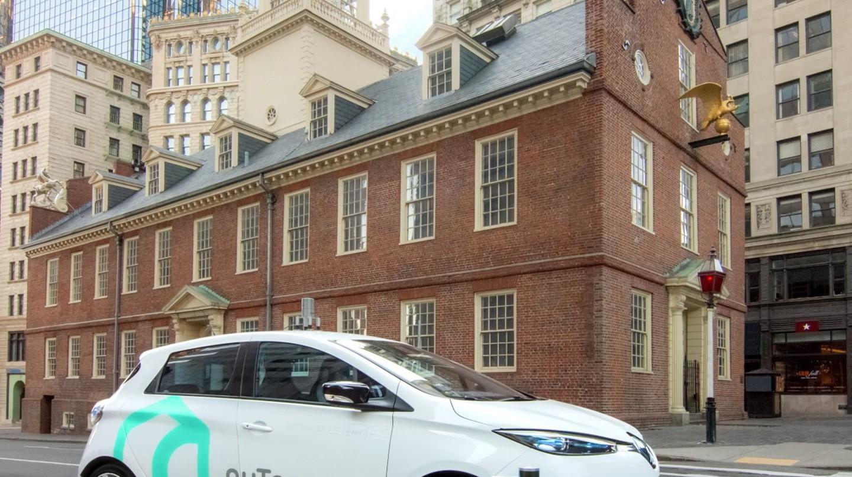 One of nuTonomy's cars in Boston | Courtesy nuTonomy
