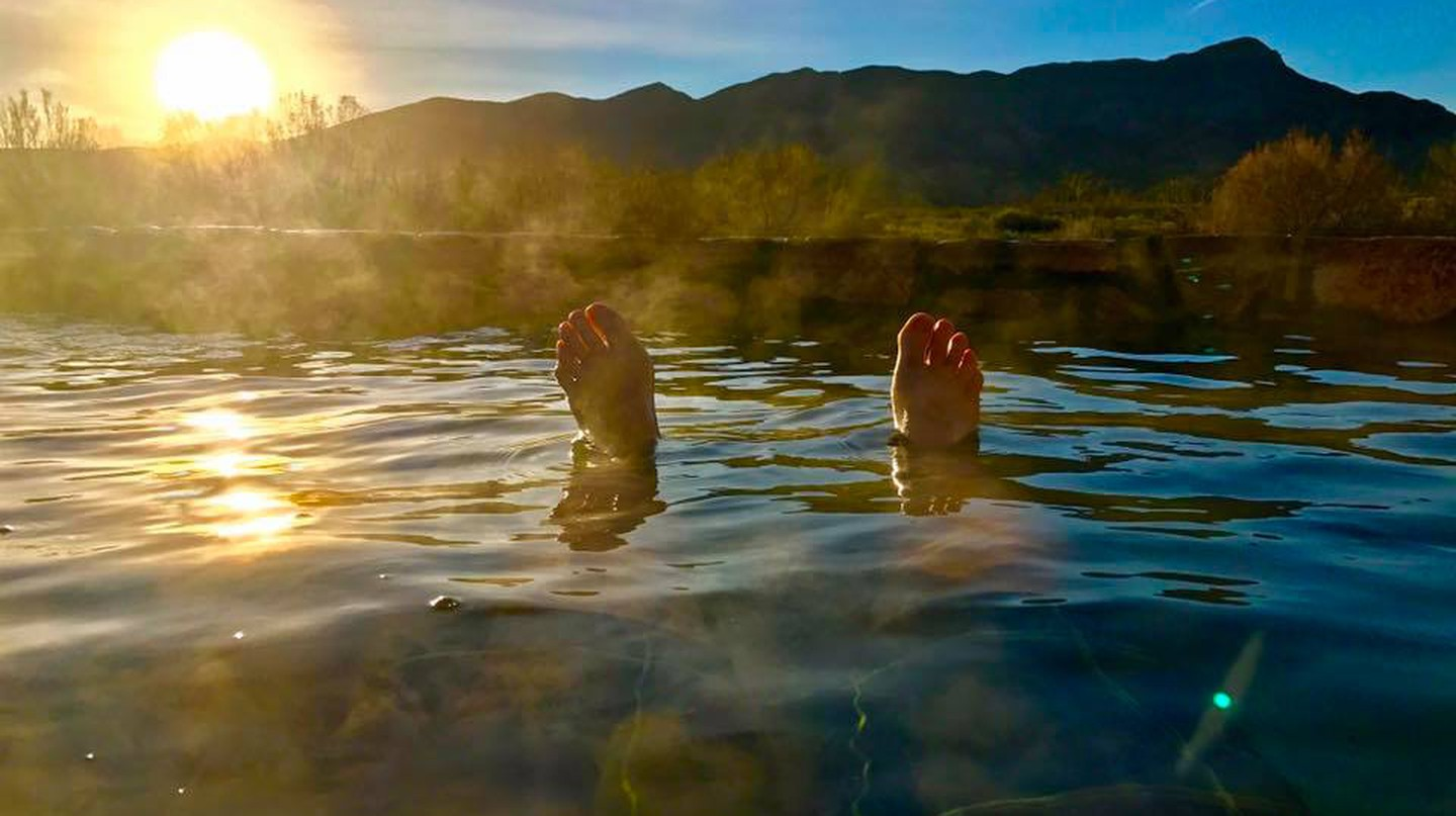 Enjoy a break at Riverbend Hot Springs in New Mexico