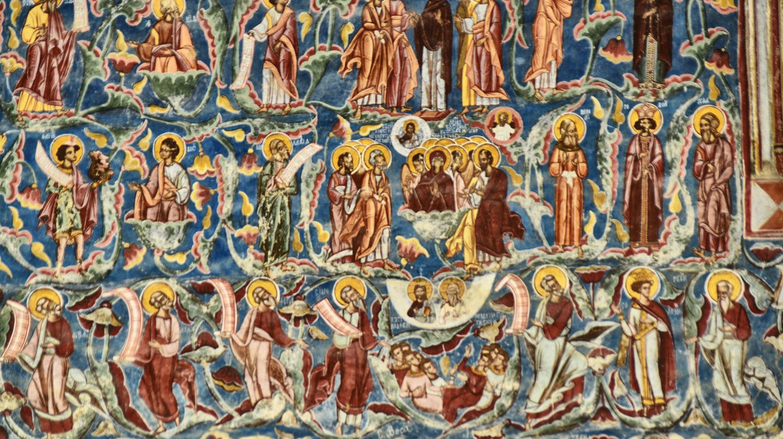 Painted fresco at Voroneț Monastery