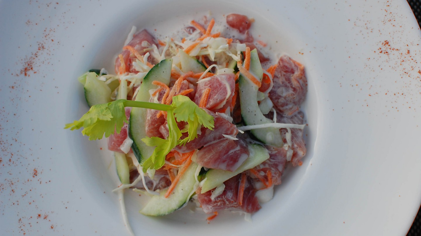 Poisson cru, a twist on ceviche, is one of the treats you'll find in Tahiti| © Eric Chan / Flickr