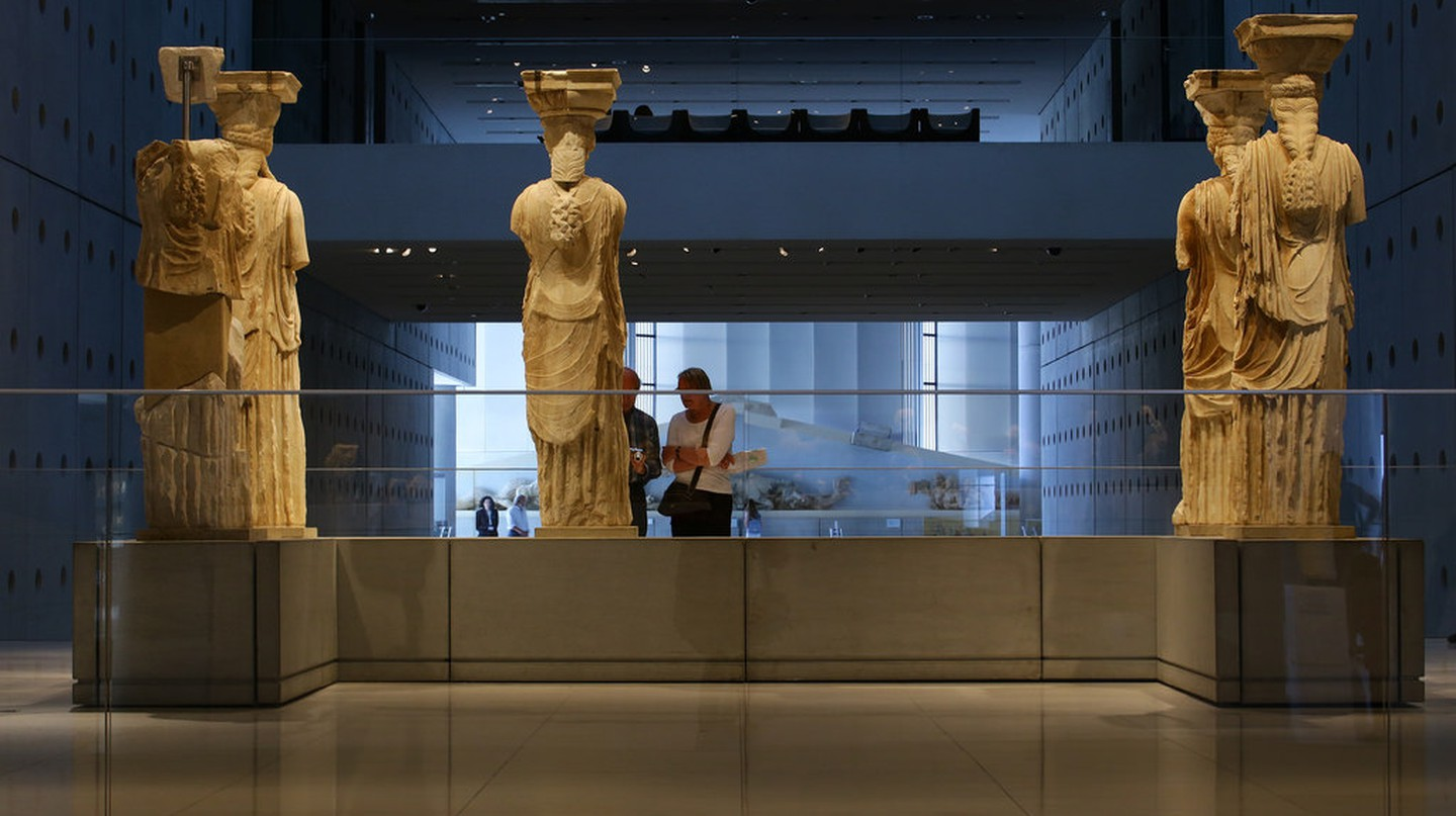Karyatid statues at the Acropolis Museum