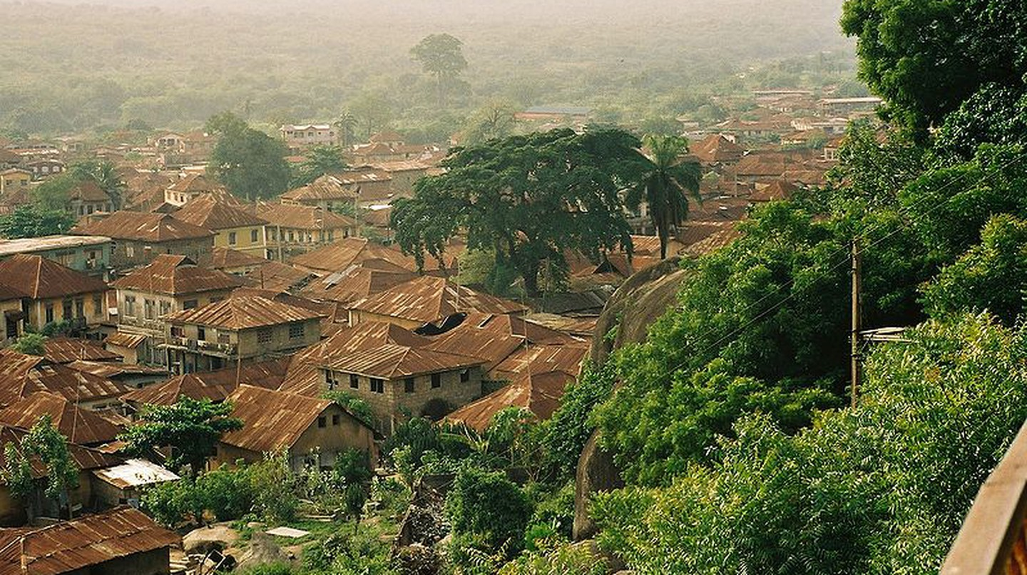 "View of Abeokuta from Olumo Rock, Nigeria | © Melvin ""Buddy"" Baker / WikiCommons"