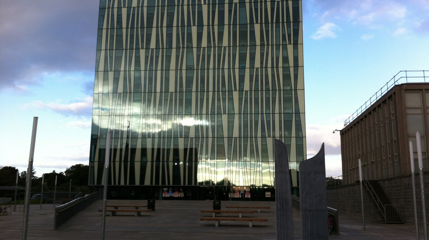 University Library, Reflected Clouds, and Sculpture | University of Aberdeen Library/Flickr