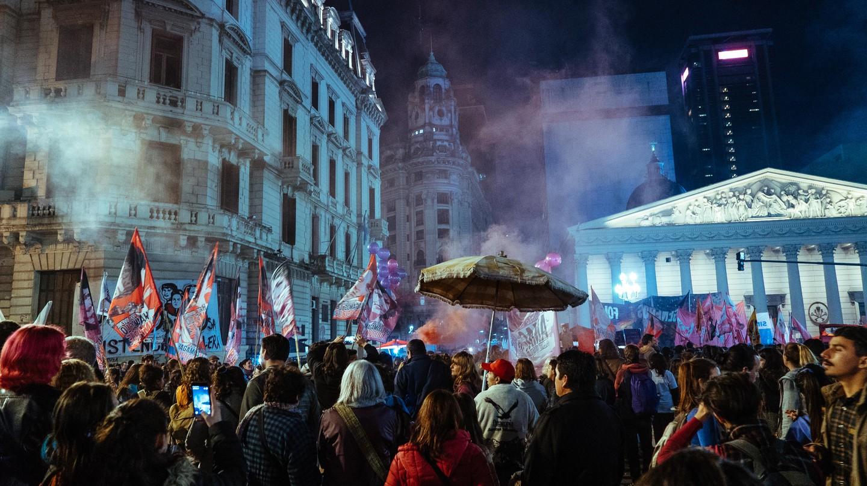 The third annual #NiUnaMenos march   © Rose Palmer