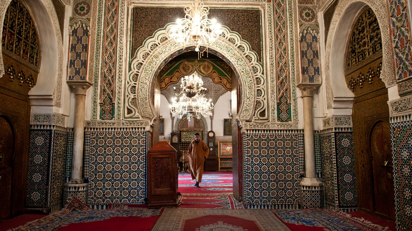 Ornate zellige inside a mosque in Fez | © Anna & Michal / Flickr