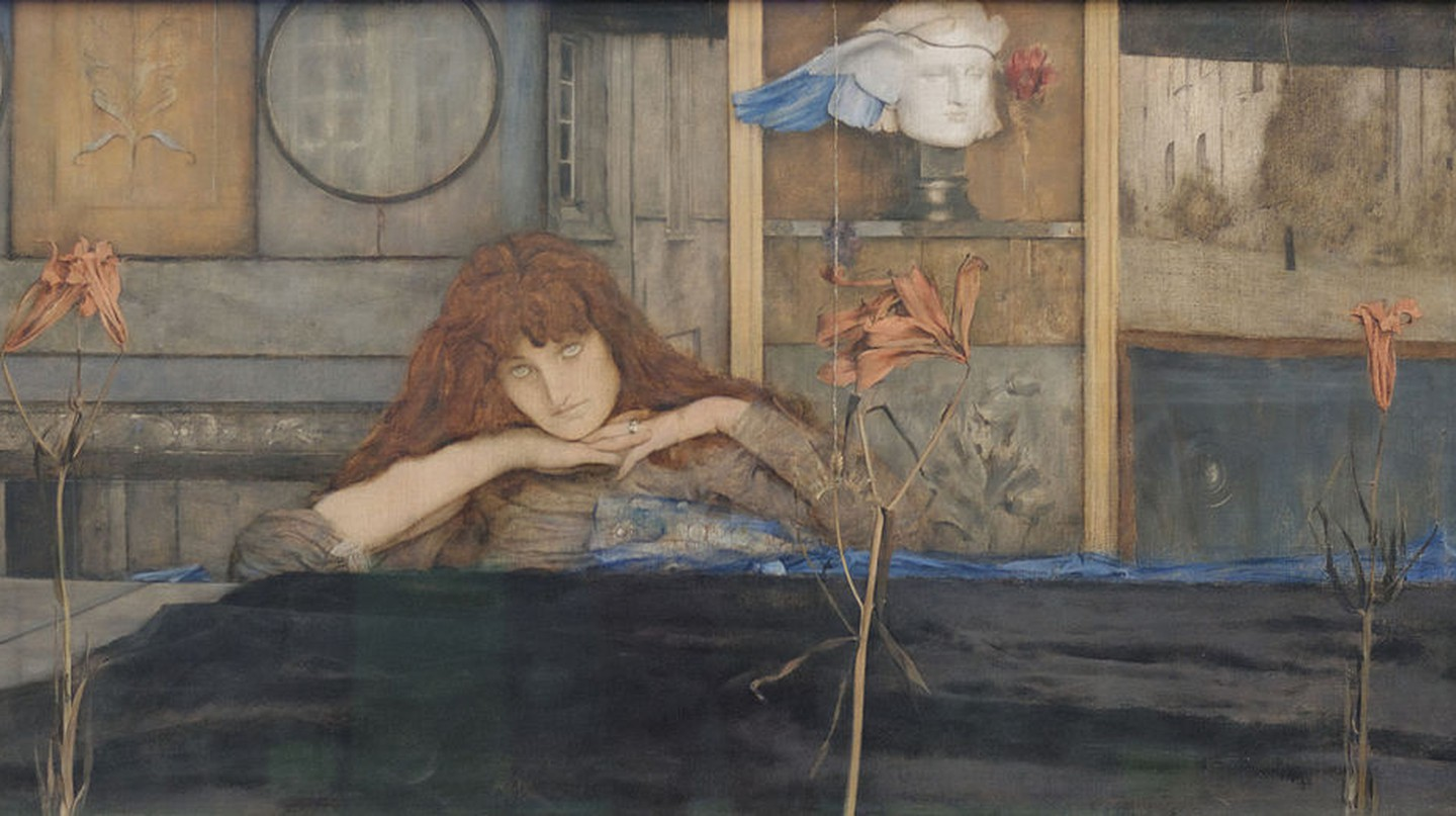 Fernand Khnopff, 'I lock my door upon myself' (1891) | Via Yelkrokoyade/WikiCommons