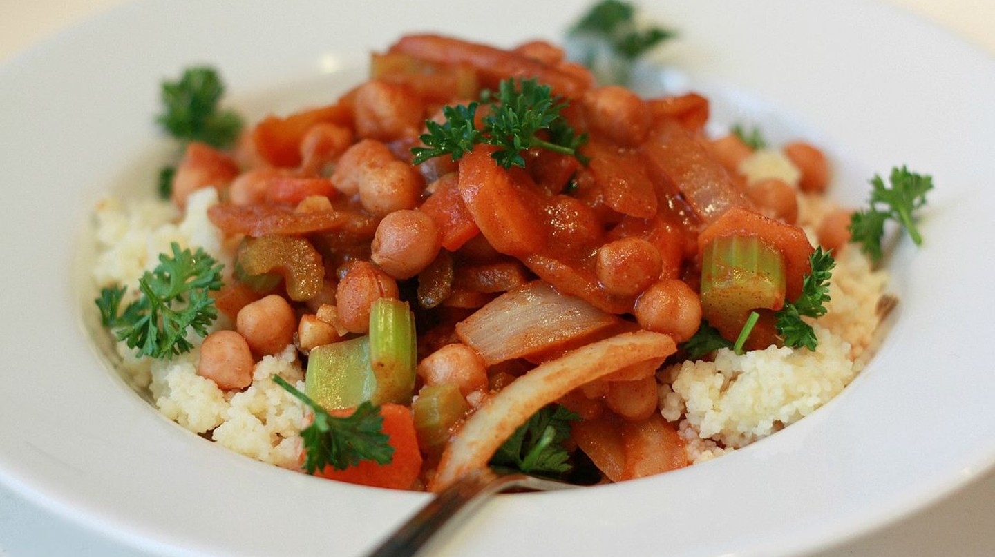 Moroccan vegetable soup with couscous