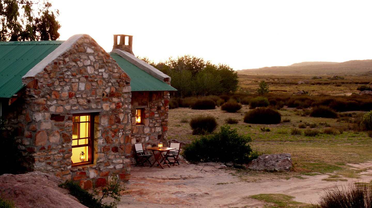 Guests to Papkuilsfontein in Nieuwoudtville stay in beautifully renovated stone cottages | Courtesy of Papkuilsfontein