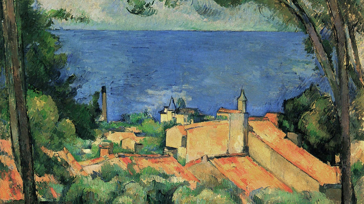 Cézanne's painting of L'Estaque just outside Marseille | © Public domain/WikiCommons