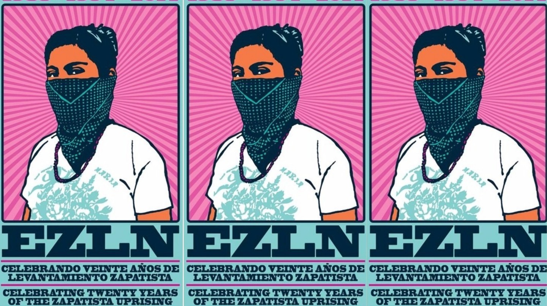 Poster celebrating 20 years of Zapatista action   © dignidadrebelde/Flickr