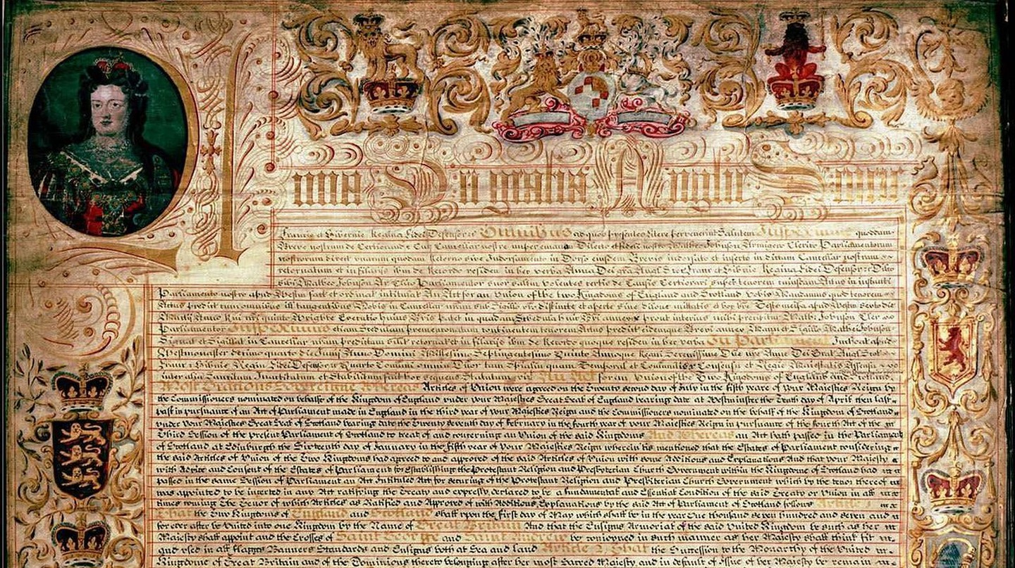 Scottish Exemplification of the Treaty of Union of 1707