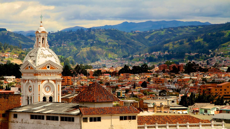 Steeple of the Iglesia San Francisco, Cuenca