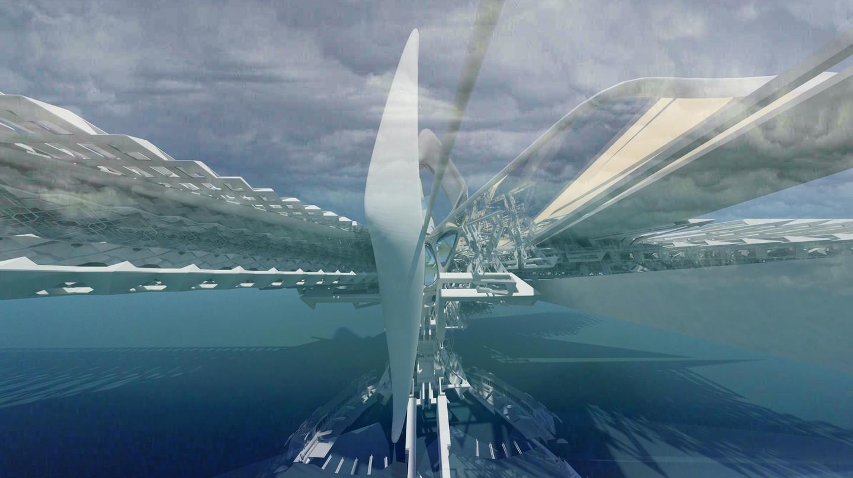 Revolving Solar Sail bridge | © Margot Krasojević Architects