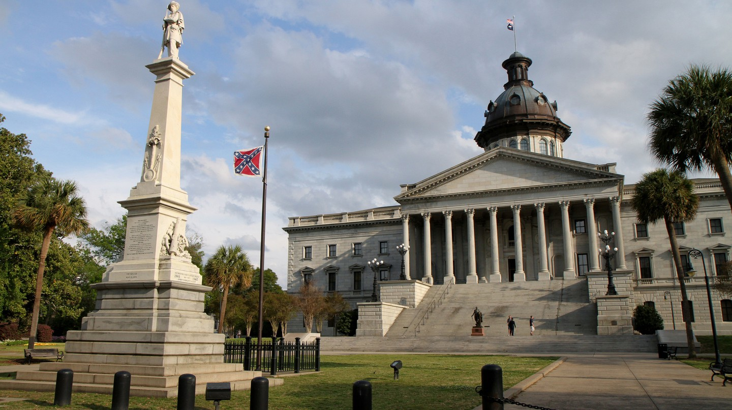 The Confederate flag on the grounds of the state capitol in South Carolina before it was removed in 2015 | © Jason Eppink / Flickr