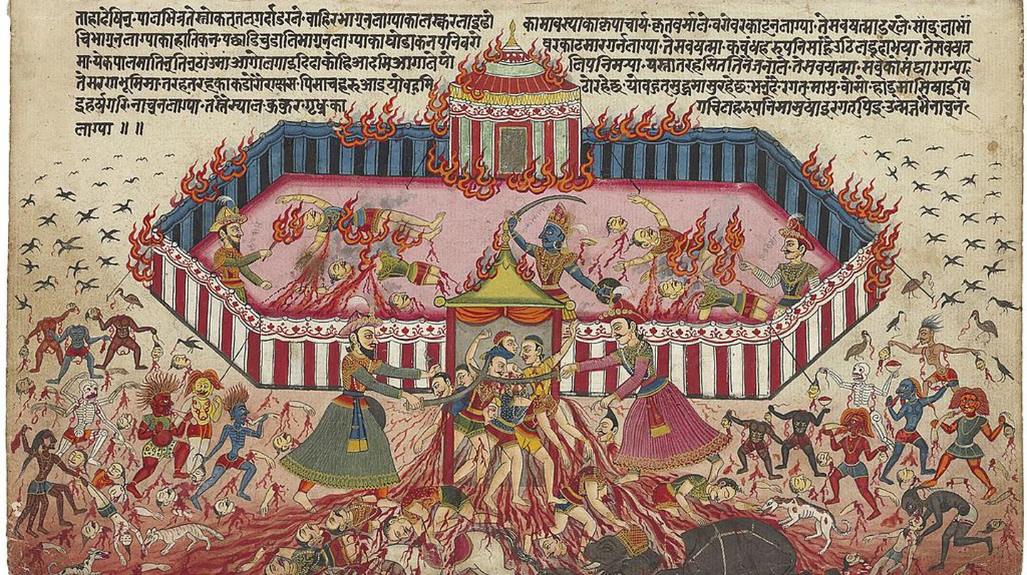"<a href=""https://commons.wikimedia.org/wiki/File:An_illustration_from_the_Mahabharata_1-large.jpg"" target=""_blank"" rel=""noopener noreferrer"">Mahabharat illustration 