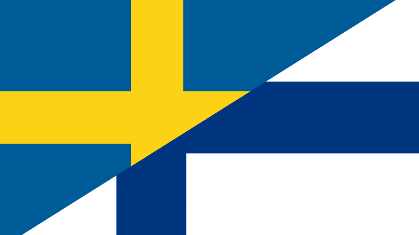 Swedish and Finnish flags combined / Public domain / WikiCommons