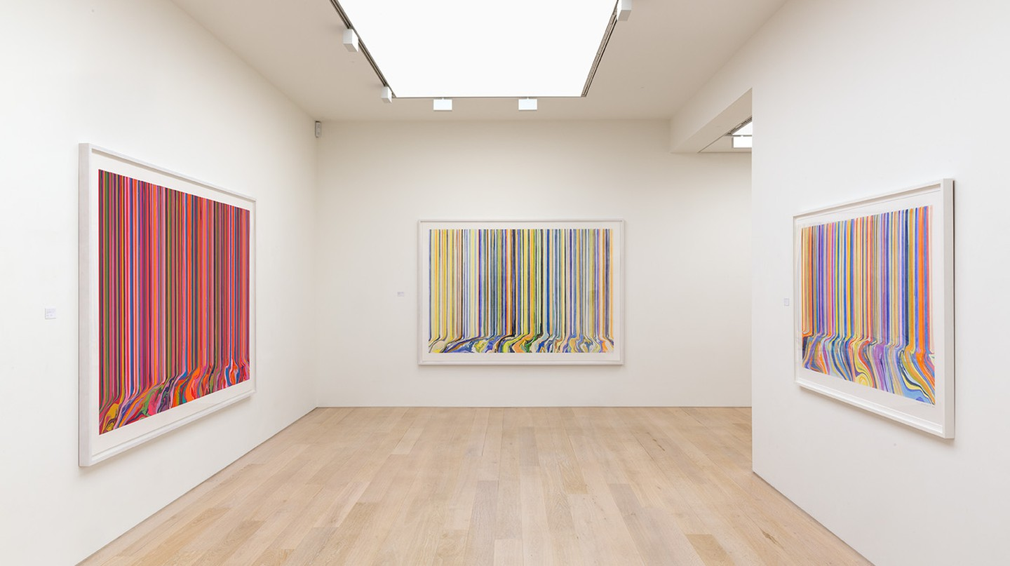 Ian Davenport, Melismatic at Alan Cristea Gallery 2017 | Photo courtesy Alan Cristea