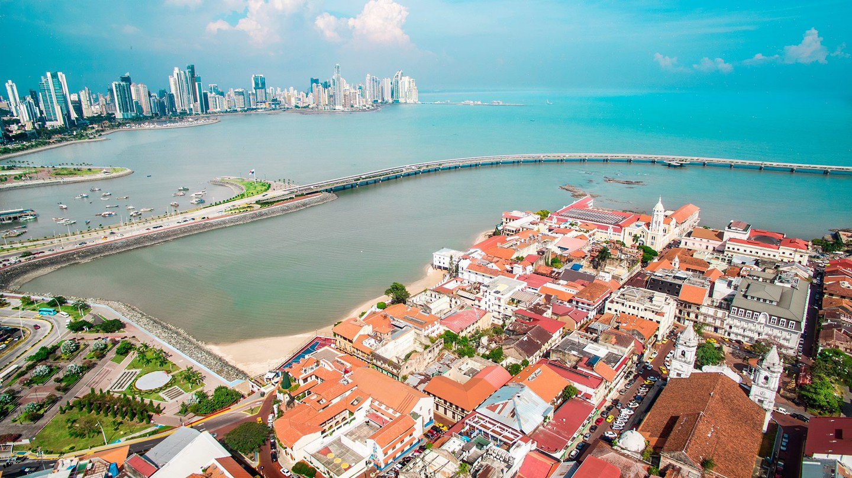 View of Casco Viejo from above, Panama City |© Courtesy of Visitpanama.com