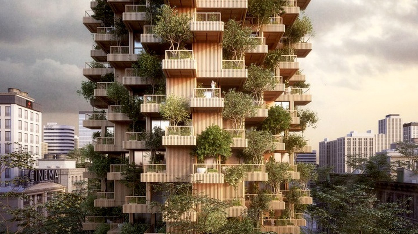 The trees on the terraces will provide a boost to local air quality