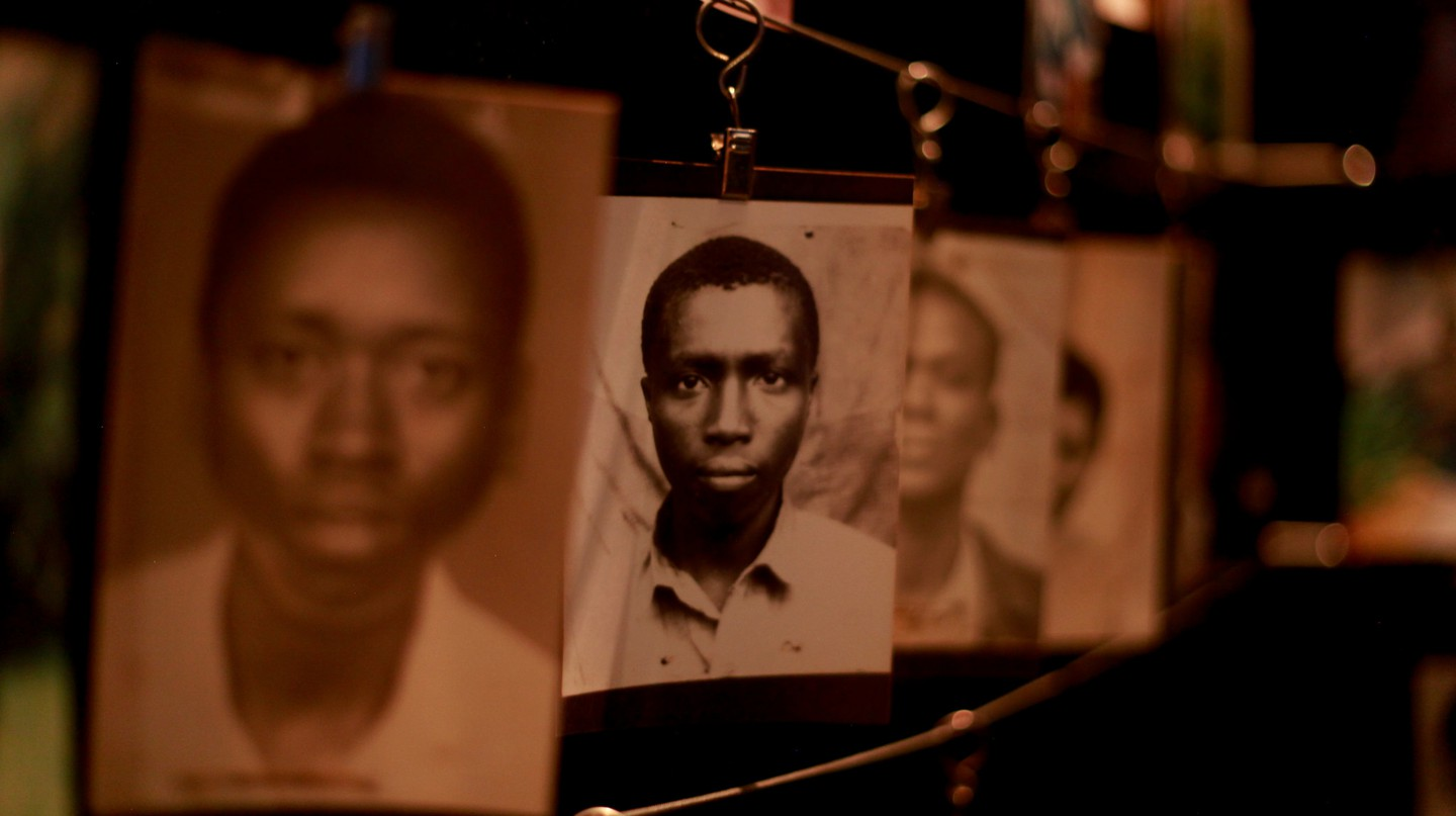 Photographs at the Kigali Genocide Memorial