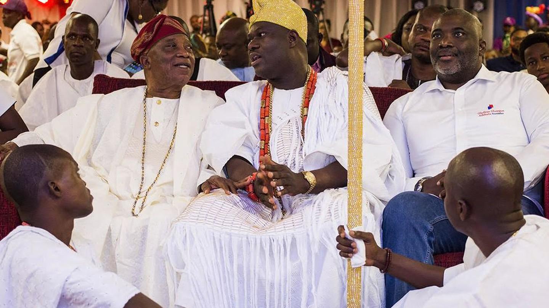 "<a href=""https://commons.wikimedia.org/wiki/File:Segun_Adebutu,_Ooni_of_Ife_and_Adebutu_Kessington.jpg""> Ooni of Ife | © NeutralNigerian/Wikimedia Commons </a>"