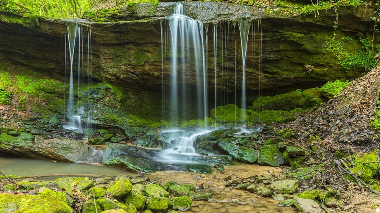 Waterfall at the Butzerbachtal in the Eifel region