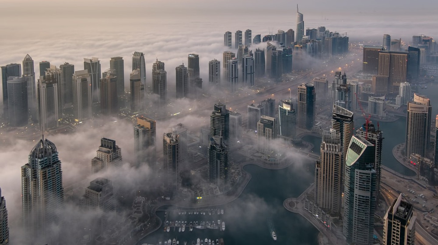Dubai submerged in fog | © mohamed alwerdany/Shutterstock