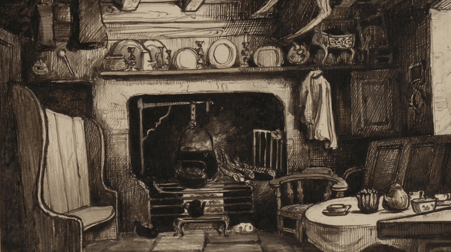 Welsh hearth by Francis Elizabeth Wynne