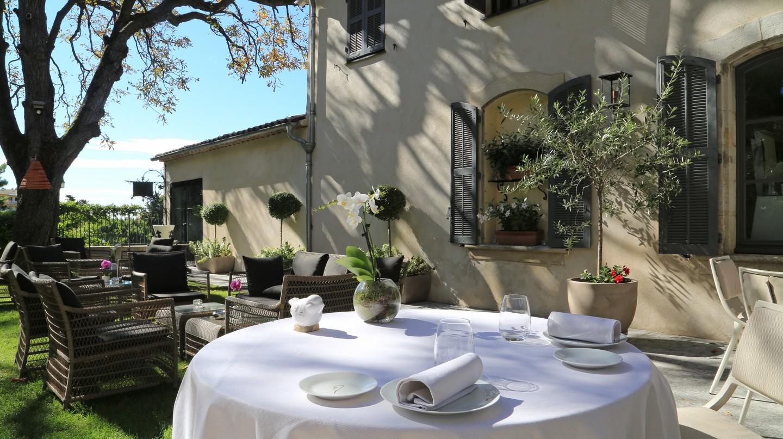 The terrace at La Villa Archange   © La Villa Archange
