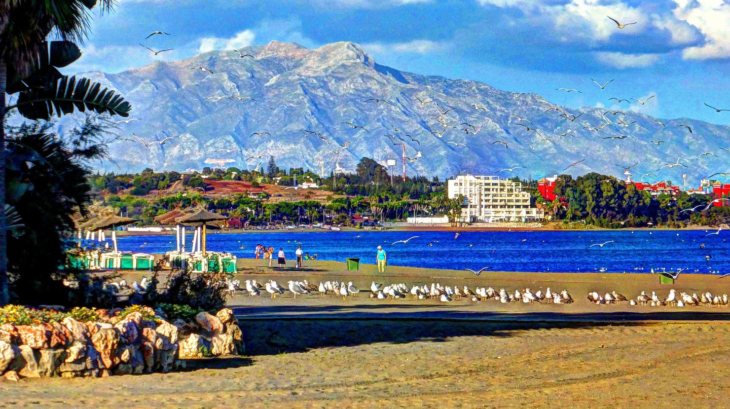 The beach at Estepona; Alcalaina/flickr