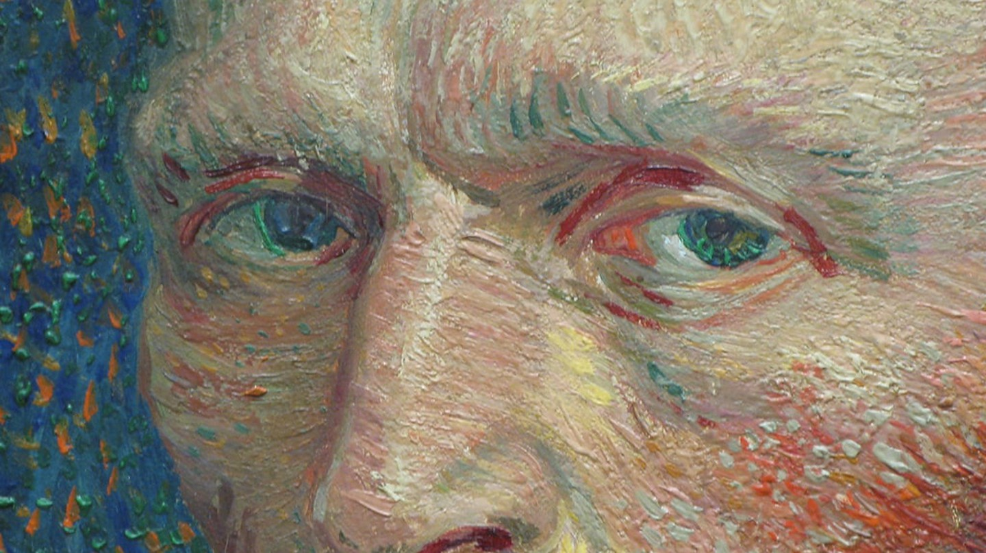 Vincent van Gogh, detail of Self-Portrait (1887) | Photo by Kevin Dooley/Flickr