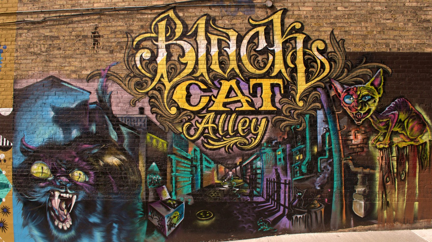 Black Cat Mural Alley | © Brady Wieland/Flickr