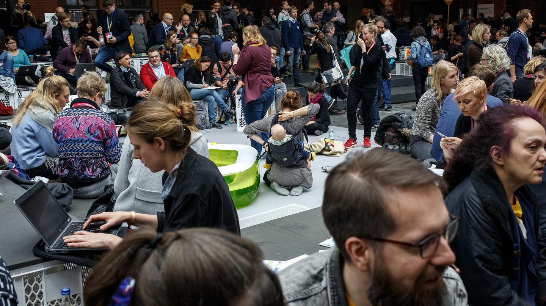 BesucherInnen am 09.05.2017 auf der re:publica (#rp17) in Berlin | © re:publica