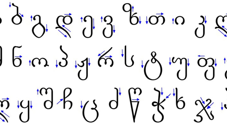 Modern Georgian Alphabet | © Jaqeli/ wikimedia