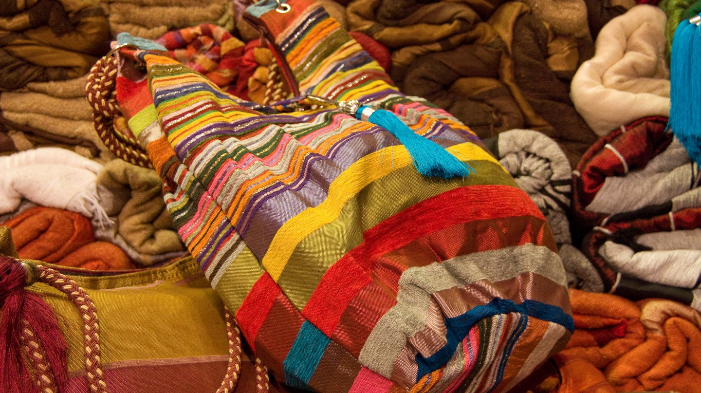 Colourful bags and accessories for sale in Morocco | © Martin and Kathy Dady / Flickr