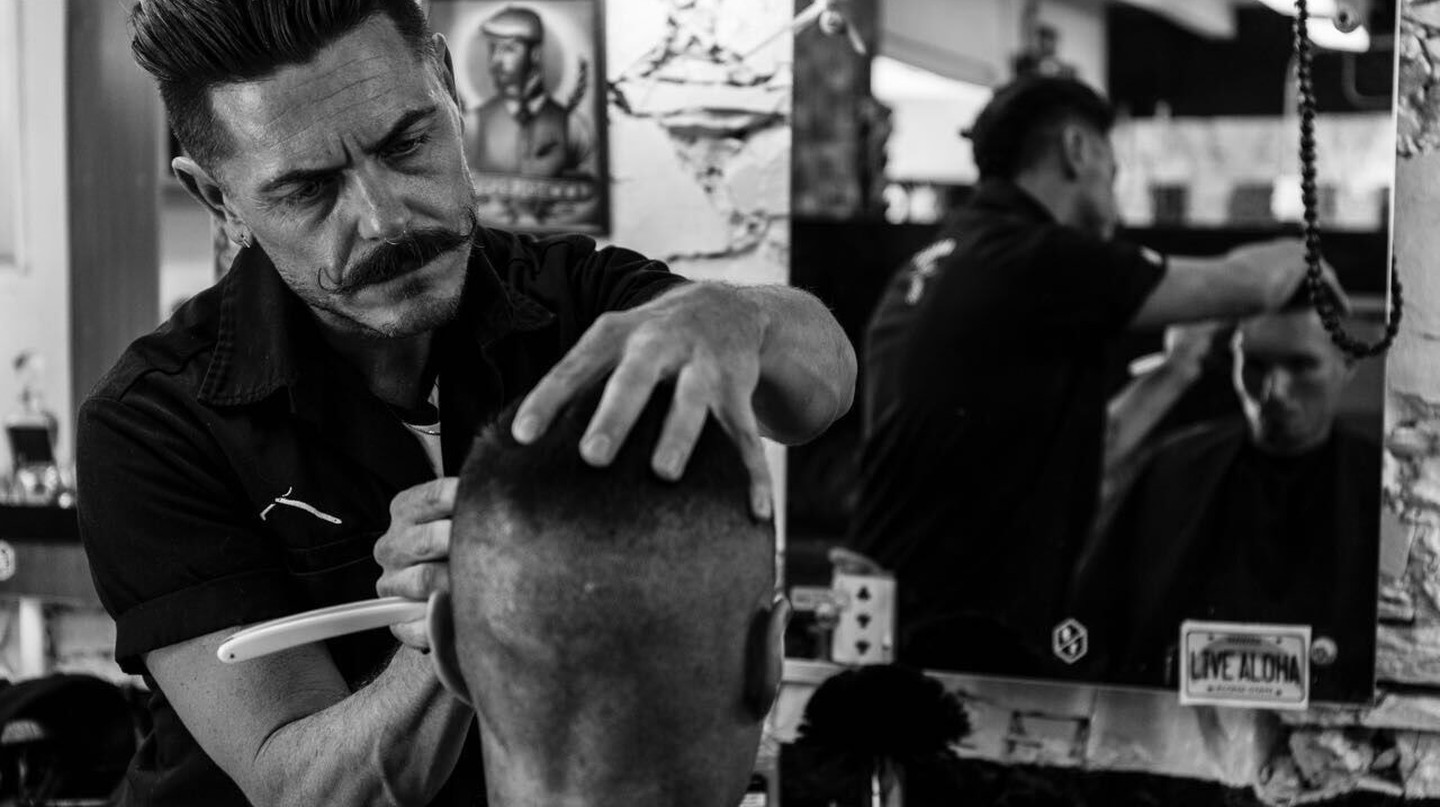 Trendy barbers such as Barnet Fair are a great place to get a cut and shave. | Courtesy Barnet Fair