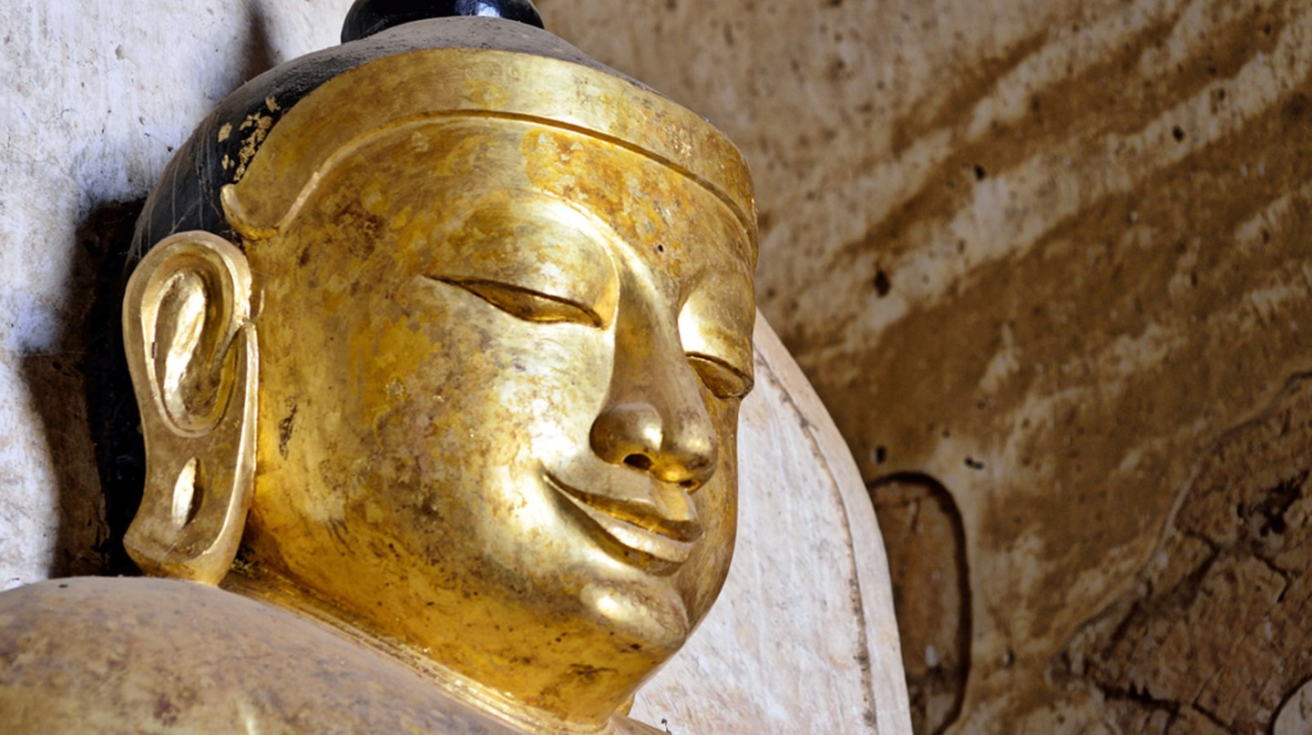 The head of a statue of Buddha in Bagan  | © Chase Chisholm