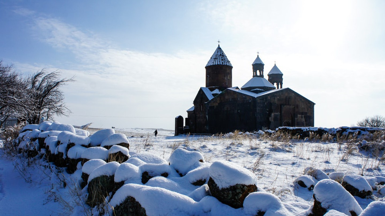 Saghmosavank monastery in Armenia