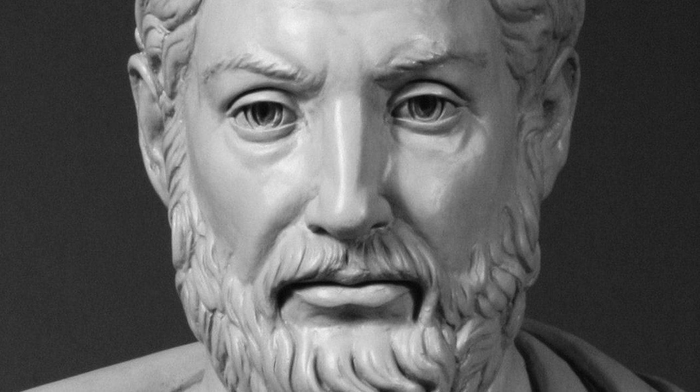 "Modern bust of Cleisthenes, known as ""the father of Athenian democracy"" 