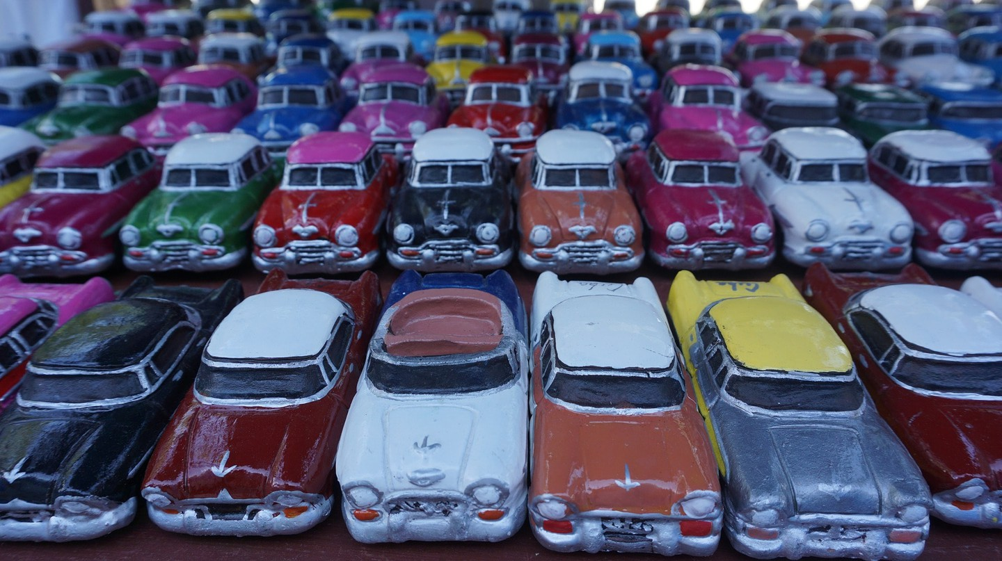 Remember the vintage cars of Cuba with a souvenir replica © maxos_dim