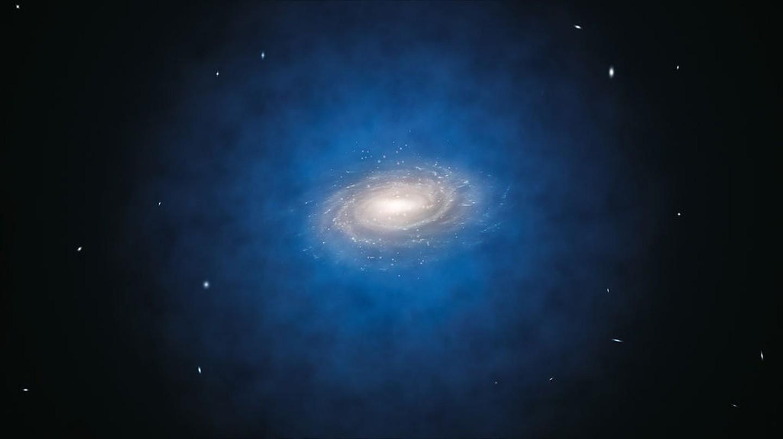 Dark Matter Distribution   © ESO/L. Calçada / Wikimedia Commons