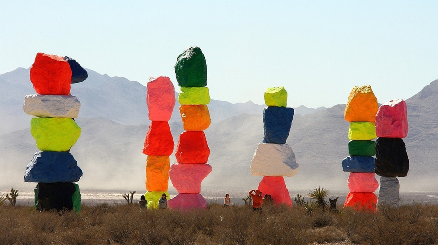 The wonderful sight of Seven Magic Mountains